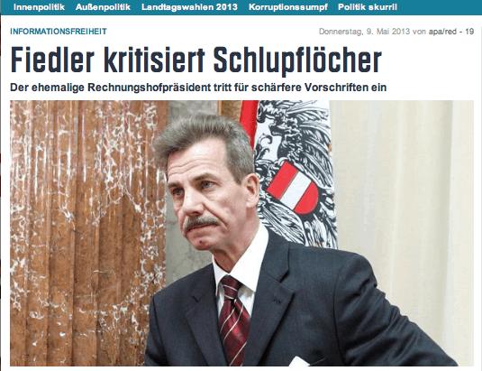 Fiedler-Kritik an Regierungsentwurf NEWS 10 05 13