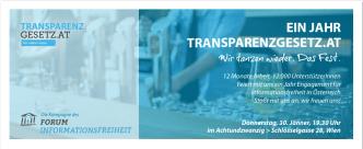 Transparenzgesetz.at wird 1 Jahr alt