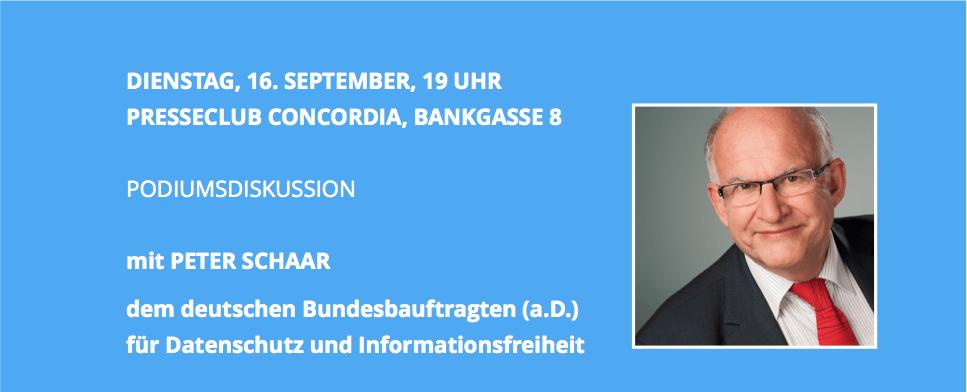 Peter Schaar Einladung
