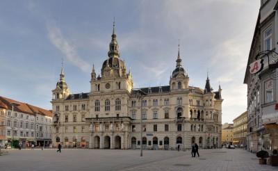 Graz Rathaus, CC BY 3.0 von Taxiarchos228, WikiCom